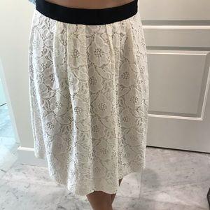 LOFT ivory lace skirt - NWT